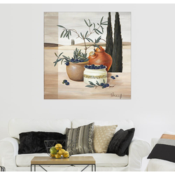 Posterlounge Wandbild, Olivenernte 100 cm x 100 cm