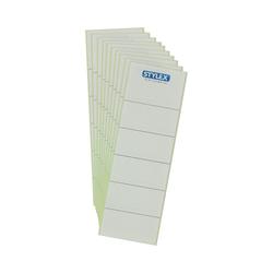 Rückenschilder für Ordner weiß/ sk kurz/ breit, Packung 10 Schilder