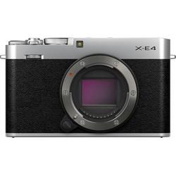FUJIFILM X-E4 EE BODY Systemkamera-Body (26,1 MP, Bluetooth, WLAN (WiFi) silberfarben