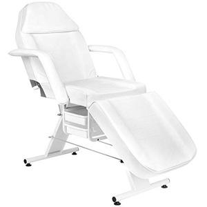 Activeshop Basic 202 Kosmetikliege Massageliege Massagetisch Massagestuhl Weiss bis 150 kg belastbar Premium-PU-Leder mit Aufbewahrungsladen 180 x 60 x 75 cm (L x W x H)