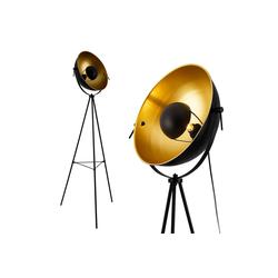 lux.pro Stehlampe, Angers Stehleuchte Design Scheinwerfer schwarz