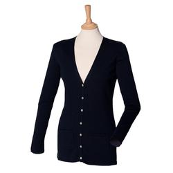 Damen V-Neck Cardigan | Henbury navy XL