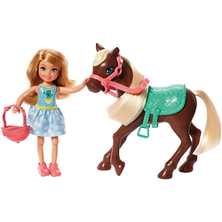 Barbie Chelsea Puppe & Pony (blond)