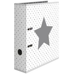 HERMA Stars Motivordner weiß gepunktet mit Stern 7,0 cm DIN A4