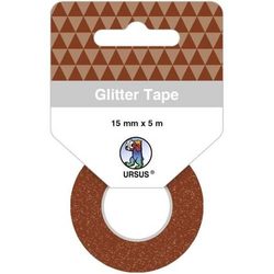 Glitter Tape 15mmx5m braun