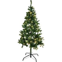 Europalms 83500299 Künstlicher Weihnachtsbaum mit Beleuchtung Tanne LED Grün mit Ständer