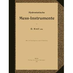Hydrostatische Mess-Instrumente als Buch von NA Krell