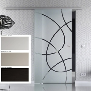 Glasschiebetür BASIC - opt. Softclose 1-flg. Design Dekor