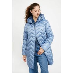 Finn Flare Kurzmantel - mit ausgefallenem Steppdesign blau M