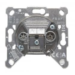 Triax FS 07, 2-Loch BK-Filter-Dose, 5-1000MHz Durchgang-Antennen-Steckdose