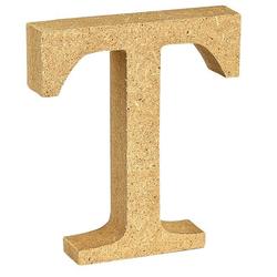 """VBS Buchstaben """"MDF"""" 8 cm x 1,5 cm bunt Buchstabe """"T"""""""