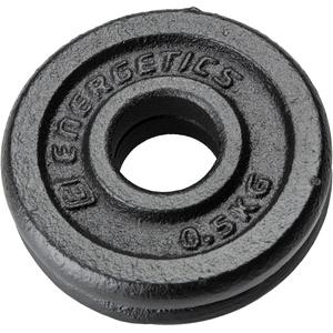 ENERGETICS Hantelscheiben in schwarz, Größe 0,5 schwarz 0,5