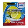Reinex fresh WC-Duftsteine, Nachfüllpack 2 x 40 g, Lemone