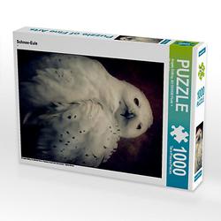 Schnee-Eule Lege-Größe 48 x 64 cm Foto-Puzzle Bild von Angela Dölling, AD DESIGN Photo + PhotoArt Puzzle