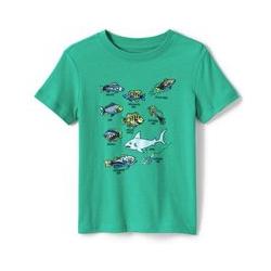 Grafik-Shirt, Größe: 122/128, Sonstige, Jersey, by Lands' End, Fliegenfischen - 122/128 - Fliegenfischen