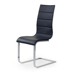 Krzesło tapicerowane Kanerga czarno-białe