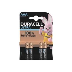 Duracell ULTRA Batterie, (4 St), AAA, lange Lebensdauer