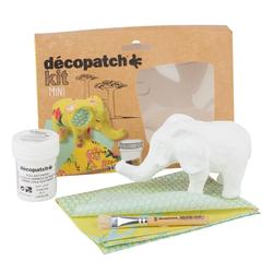 décopatch Kreativset Elefant, inkl. 2 Décopatch-Bogen