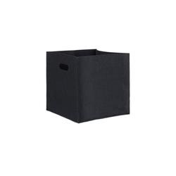 relaxdays Aufbewahrungskorb Quadratischer Filzkorb schwarz