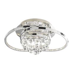 Wofi LED-Deckenleuchte Medley in chromfarbig, 56,5 cm