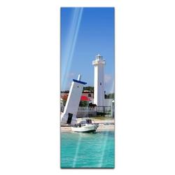 Bilderdepot24 Glasbild, Glasbild - Puerto Morelos Mexico Leuchtturm 40 cm x 120 cm