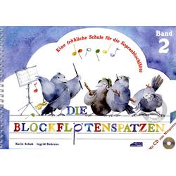 Die Blockflötenspatzen 2 mit CD