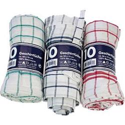 Clean und Clever Geschirrtuch Mikrofaser sortiert 50 x 70 cm 10 Stück