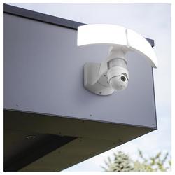 LUTEC LED Außen-Wandleuchte Libra IP44 3000lm Weiß mit Kamera