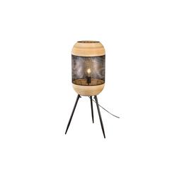 Nino Leuchten Standleuchte Kari mit Bambus-Dekor