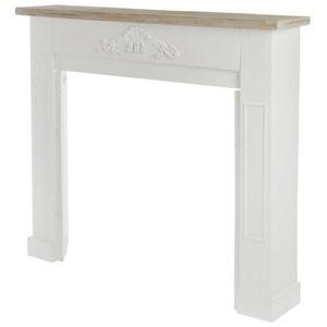 elbmöbel Kaminumbauschrank Kaminumrandung braun weiß aus Holz Kaminumrandung Kaminumbau Kaminkonsole braun weiß für Elektrokamin + Gelkamin