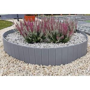 kagm Beetumrandung Beeteinfassung Rasenkante Baumring Gartenpalisade [5,00€/Meter] | Grau