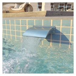 vidaXL Poolwasserfall vidaXL Pool-Wasserfall Edelstahl 30x9x26 cm Silbern