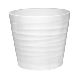 Dehner Blumentopf Wave, rund, Keramik weiß