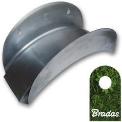 Wandschlauchhalter Schlauchhalter aus Metall silber für Gartenschlauch ECO-WF114 Bradas 1147