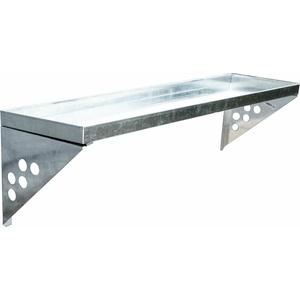 SVITA Wandregal Metall Regal Schweberegal für Gerätehaus Gartenhaus Zubehör Set