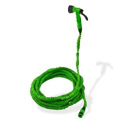 Gartenschlauch Wasserschlauch flexibel 10 - 30 m dehnbar knickfrei Grün + Brause