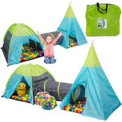 Spielset Kinderspielzelt Pocahontas inkl. 200 Bällebadbällen   Spielzelt Spielhaus für Jungen und Mädchen   Kinder-Bällebad-Zelt mit Spielbällen   inkl. Tragetasche