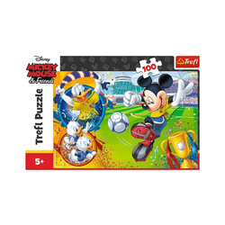 Trefl GmbH Puzzle Trefl 16353 - Mickey Mouse and Friends, 100 Teile, 100 Puzzleteile