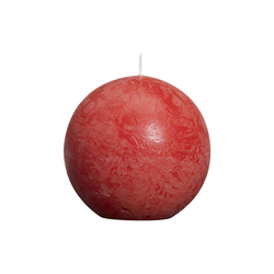 Bolsius Kugelkerze Rustik in rot, 8 cm