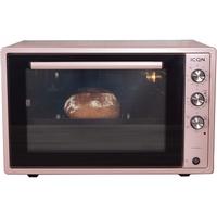 ICQN 70XXL Mini-Öfen, 1800 W, Minibackofen mit Innenbeleuchtung und Umluft, Pizza-Ofen, Doppelverglasung, Drehspieß, Timer Funktion, liert, inkl. Sc