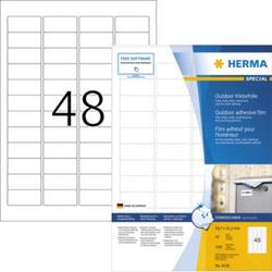Herma 9536 Etiketten (A4) 45.7 x 21.2mm Folie, matt Weiß 1920 St. Extra stark haftend Folien-Etiket