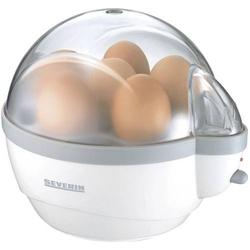 Severin EK 3051 Eierkocher mit Eierstecher, mit Messbecher Weiß, Grau