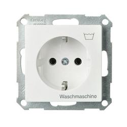 ELSO 265124, Steckdose bedruckt Waschmaschine 16A Joy Steckklemme reinweiß