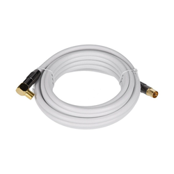 GEORGES Antennenkabel weiß 90° gewinkelt 5m SAT-Kabel