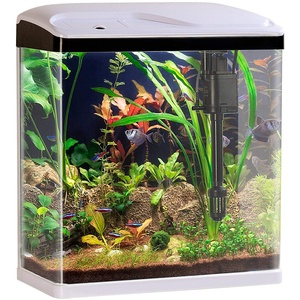 Sweetypet Nanobecken: Nano-Aquarium-Komplett-Set mit LED-Beleuchtung, Pumpe und Filter, 25 l (Aquarien)