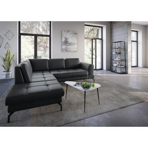 sit&more Ecksofa Bendigo V, inklusive Sitztiefenverstellung, Bodenfreiheit 15 cm, wahlweise in 2 unterschiedlichen Fußfarben schwarz