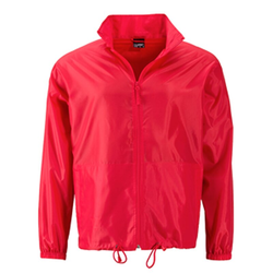 Herren Windbreaker | James & Nicholson light-red XXL