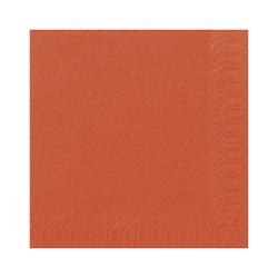 DUNI Servietten, aus Zellstoff, Lösungsmittelfreie Servietten, Farbe: mandarin, 1 Karton = 4 x 250 Stück = 1.000 Stück