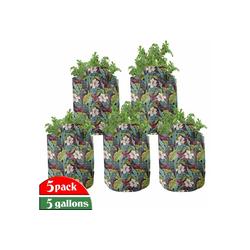 Abakuhaus Pflanzkübel hochleistungsfähig Stofftöpfe mit Griffen für Pflanzen, Pflanze Exotische Natur Bild 28 cm x 28 cm