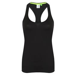 Damen Racerback Shirt | Tombo black M